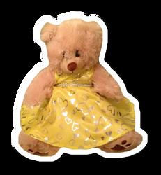 Yellow glitter dress