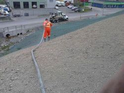 Erosion Control  of banks at Hutton Building