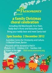 A family Christmas choral celebration
