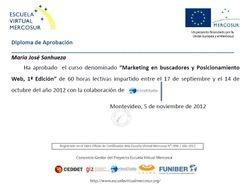 Certificado Marketing en Buscadores y Posicionamiento web SEO intensivo. Beca Mercosur.