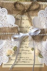 Burlap Invite for Weddings or Bridal Showers