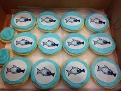 North Carolina Basketball Cupcakes