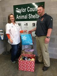 Taylor County Animal Shelter Xmas Donation 2014