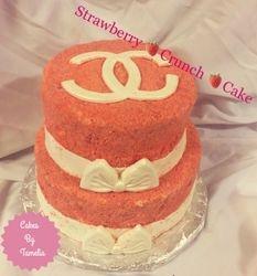 Chanel Strawberry Crunch Cake