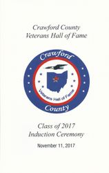 Crawfoed County Veterans HOF