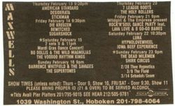 1992-02-14 Maxwell's, Hoboken, NJ
