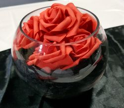 Fishbowl Centrepiece - Red & Black theme