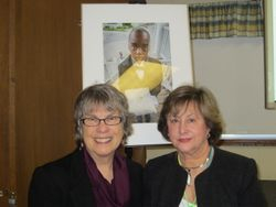Photographer Becky Field  with MWC President Harriet Bicksler