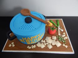 Cooking pot birthday cake