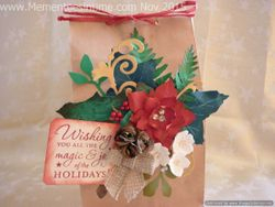 Frayed Floral Decorated Gift Bag