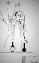 GIRL, TREE , WINE