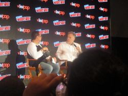 Joe Quesada Interviewing Vincent D'Onofrio During the Marvel: Cup O'Joe Panel