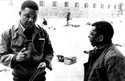 Mandela and Walter Sisulu -13 June1964