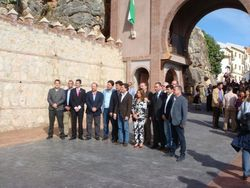 Comares Mayor and Visiting Officials