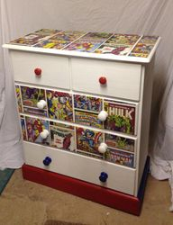 Superhero themed drawers