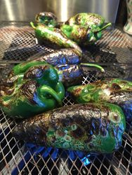 Fire Roasting Poblanos