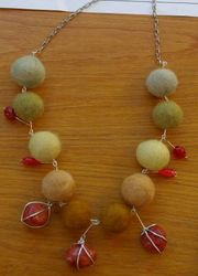 Felted necklace by Natalie Geard