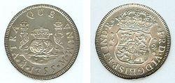 1755 Mexico, Pillar 2 Reales