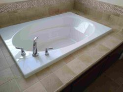Grouted tub