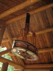 Cedar chandelier