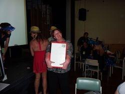 One of the raffle winners