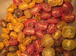 Roasting Cherry Tomatoes in Garlic & Honey