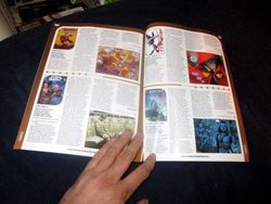 Page Spread with My Review of Avatar: Tsu'tey?s Path in Starburst Magazine #469: Birds of Prey Collectors? Edition
