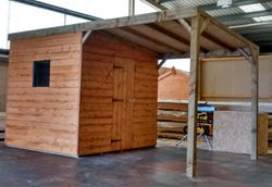 Pent Shed 16' x 8' (incl. 8' x 8' shelter)