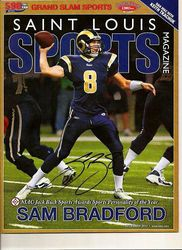 Sam Bradford Signed Rams December 2010 St. Louis Sports Magazine Cover