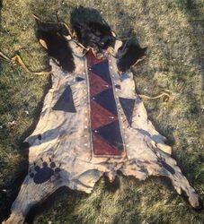 Bearskin robe