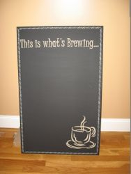 Chalkboard for the side of the fridge