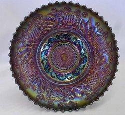Fanciful IC shaped low bowl - purple