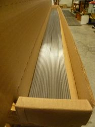 Packaged 6' strips of lead
