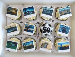 50th Birthday Photography Cupcakes