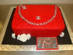 30 serving fondant purse cake $200