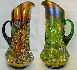 Dandelion tankard water pitchers in purple and green