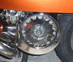 Custom cowl on 'clockwork orange' G.P.