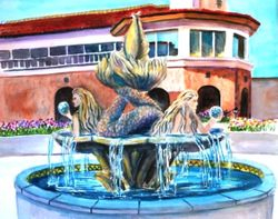 Mermaid Fountain at Hyatt, Huntington Beach - 2