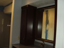 Tower cabinet in master bath