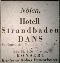 Hotell Strandbaden (Orestrand) 1927