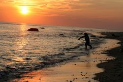 sunset at Philban Beach