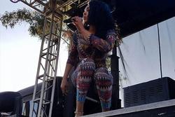 Demetria McKinney performs at San Diego LGBT Pride Parade - Music Festival