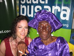 Tamalyn with 100 year old songstress, dancer and healer, Bi Kidude