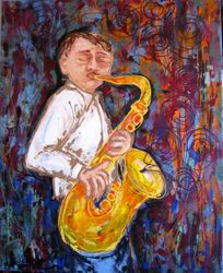 The sax player