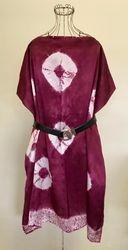 Shibori silk tunic