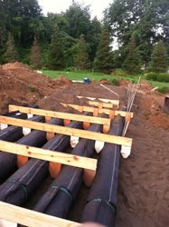 Top Layer of System Sand Installed Over AES Pipes