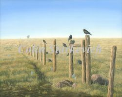 "Good Morning Prairie-Commission (16 by 20"" oil on canvas) In Private Collection"