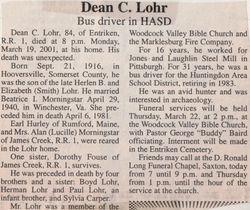 Lohr, Dean C. 2001