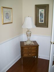 HENREDON CHEST & HAND PAINTED LAMP WITH BEAUTIFUL SHADE