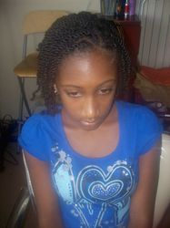 Natural hair two-strand twists